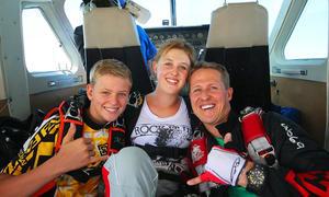 Mick, Gina-Maria und Michael Schumacher