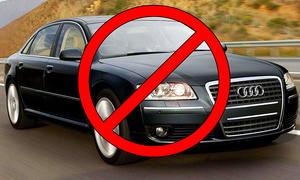 Verbot schwarzer Autos