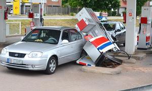 Tankstellen-Unfall