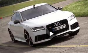 Der Audi RS7: Mit 560 PS im Tacho-Video