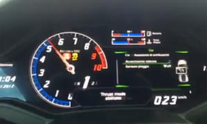 Lamborghini Huracan: Beschleunigung im Tacho-Video