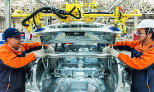 Produktion des Volvo S60L in China