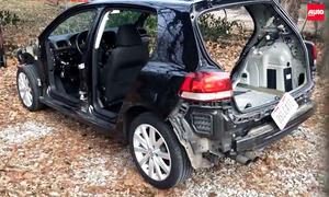 Diesel-Rückgabe in USA: Golf ausgeschlachtet
