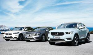 BMW X1/Mercedes GLA 250/Volvo XC40 T5
