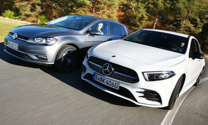 Mercedes A-Klasse/VW Golf: Test