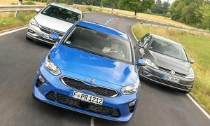 Kia Ceed/Opel Astra/VW Golf: Test