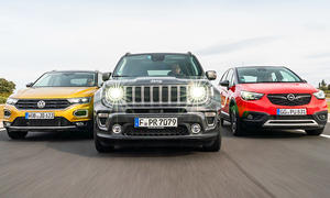 Jeep Renegade/Opel Crossland X/VW T-Roc: Test