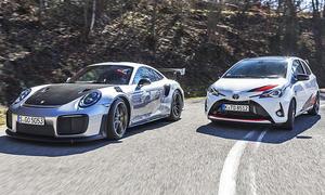 Porsche 911 GT2 RS/Toyota Yaris GRMN: Vergleich