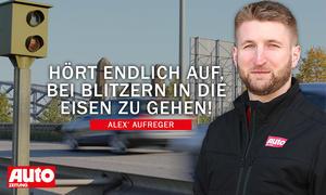 Alex' Aufreger: Bremsen bei Blitzern