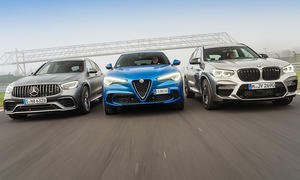 Alfa Romeo Stelvio Quadrifoglio/BMW X3 M Competition/Mercedes-AMG GLC 63 S