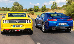Ford Mustang GT (Facelift)/Chevrolet Camaro: Test