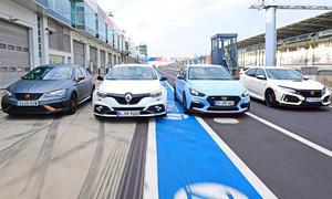 Honda Civic Type R/Hyundai i30 N Performance/Renault Mégane R.S./Seat Leon Cupra R