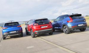 Opel Grandland X Hybrid4/Peugeot 3008 Hybrid4/Volvo XC40 Recharge T5