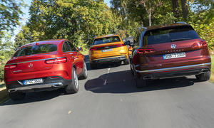 Audi Q8/Mercedes GLE Coupé/VW Touareg: Test