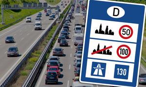 Richtgeschwindigkeit auf deutschen Autobahnen