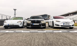 Porsche Taycan Turbo S/BMW M5 Competition/Tesla Model S Performance