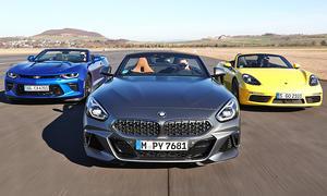 BMW Z4 Roadster M40i/Chevrolet Camaro V8 Cabrio/Porsche 718 Boxster S: Test