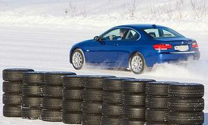 Winterreifentest Powercar Reifentest im BMW 330i Coupe