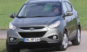 Seine ausgeprägte Untersteuertendenz macht den Hyundai ix35 2.0 CRDi 4WD recht unhandlich