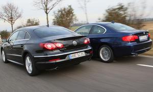 BMW 330i xDrive Coupé und VW Passat CC 3.6 V6 4Motion verbinden Rasanz und Eleganz