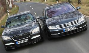 Luxus: BMW 740i und VW Phaeton V8 4Motion