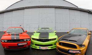 Dodge Challenger, Chevrolet Camaro, Ford Mustang