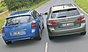 Mittelklasse-Kombis: Renault Laguna und Toyota Avensis