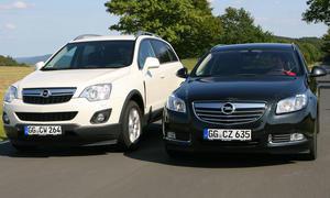Opel Insignia Sports Tourer und Opel Antara im Vergleich