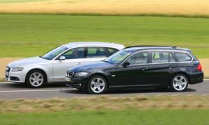 Audi A4 Avant und BMW 320d Touring - Mittelklasse-Kombis