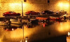 Aston Martin Rapide, Bentley Continental, Ferrari FF und Porsche Panamera