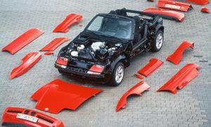 25 Jahre BMW Z1 Roadster Klassiker versenkbare Türen Video Kunststoff Außenhaut Leichtbau