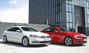 VW CC 2.0 TDI BlueMotion Technology und BMW 320d - Vergleich