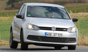 Test VW Polo BlueGT 2012 Fahraufnahme Front