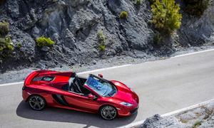 McLaren 12C Spider 2012 Preis Supersportler Roadster Vogelperspektive