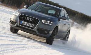 SUV Winterreifentest Vergleich Audi Q3 Front