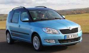 Vergleichstest Mini-Van Skoda Roomster 1.6 TDI Turbodiesel Vergleich Eckdaten