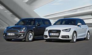 Vergleich Audi A1 2.0 Sportback Mini Cooper Clubman SD Kleinwagen Kleinwagen mit Nutzwert