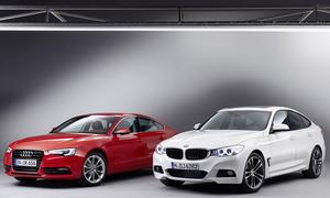 Bilder Audi A5 Sportback BMW 3er GT 2013 Vergleich Mittelklasse