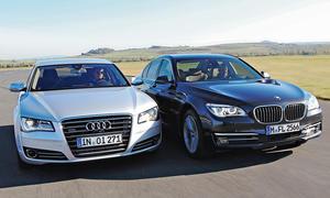 Markenvergleich Audi A8 3.0 TDI clean diesel quattro BMW 730d Luxusklasse