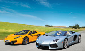 Supersportler Roadster Lamborghini Aventador McLaren MP4-12C Spider