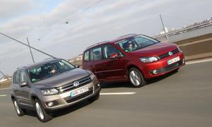 Vergleich VW Tiguan Touran SUV Van Geländewagen