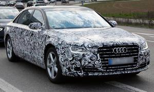 Audi A8 Facelift 2014 Luxus-Limousine Erlkönig