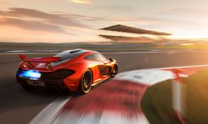 McLaren P1 Supersportler Fotos Bilder Bahrain International Circuit
