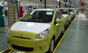 Mitsubishi Space Star Elektro 2013 Kleinwagen Elektroauto Elektroantrieb
