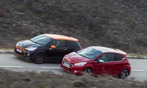 Vergleichstest Citroën DS3 Racing Peugeot 208 GTi Kleinwagen Bilder Sportliche Kleinwagen