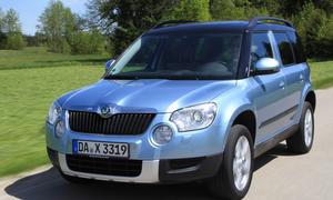 Bilder Skoda Yeti 2.0 TDI 4x4 2013 Kompakt-SUV Fahrwerk