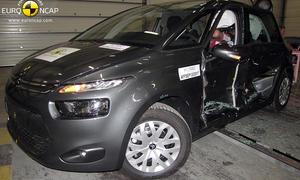 Crashtest Citroen C4 Picasso 2013 Honda CR V Euro NCAP Sicherheit