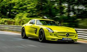 Mercedes SLS AMG Electric Drive Elektroauto Supersportwagen Rundenrekord Nürburgring Nordschleife 2013