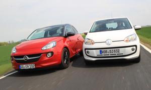 Vergleich 2013 Kleinstwagen Opel Adam VW Up Bilder Zwergenduett