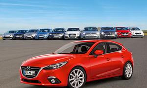Bilder Kompaktwagen Vergleich 2013 Neuer Mazda 3 gegen die Konkurrenz